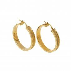Cercei din aur galben 14K, CAU52