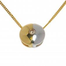 Lant cu pandantiv din aur 14K cu diamant natural, PAU39