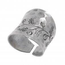 Inel din argint cu motive vegetale, circumferinta 52 mm, reglabil, IAG94
