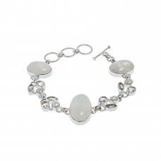 Bratara din argint, cuart, perla si piatra lunii, BAG76