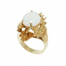 Inel aur galben 14K, cu opal, circumferinta 52.5 mm, IAU27