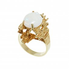 Inel aur galben 14K cu opal natural, circumferinta 52.5 mm, IAU27